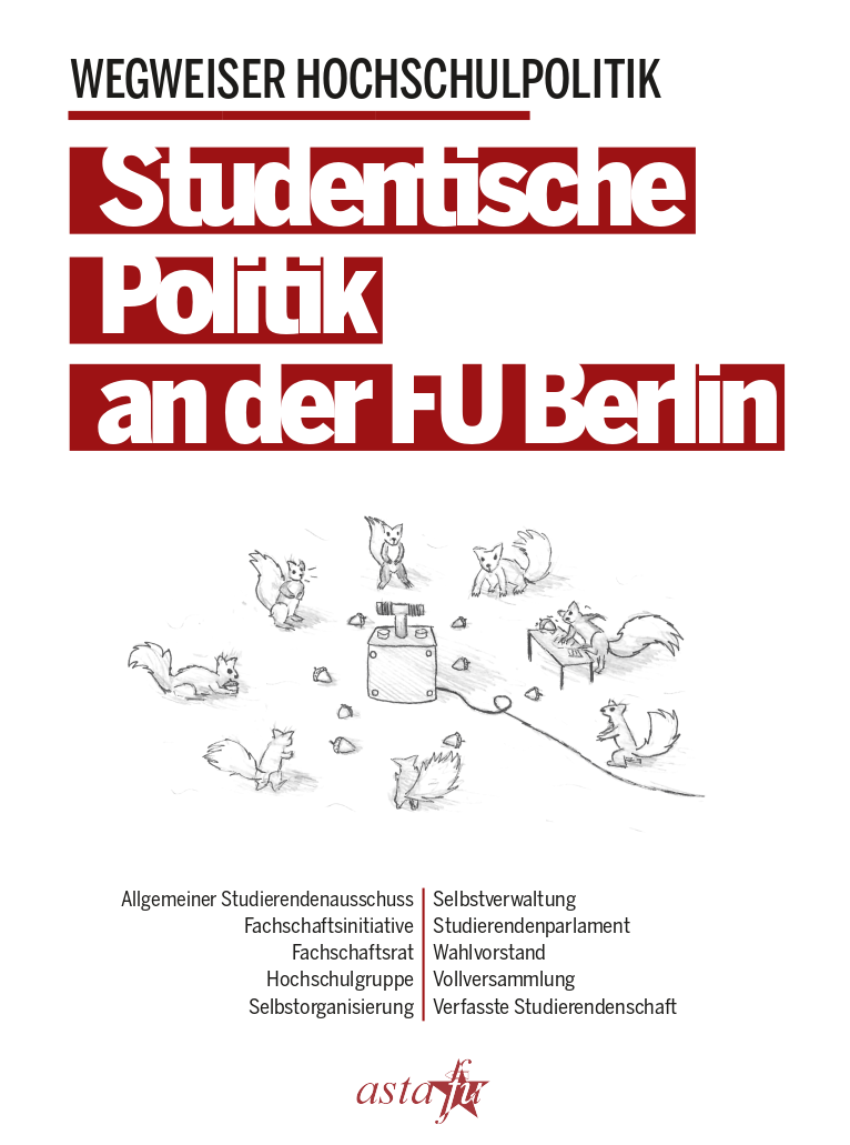 Front page of the leaflet regarding student politics
